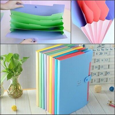 A4 Plastic File Document Bag Pouch Bills Folder Card Holder Organizer Fastener