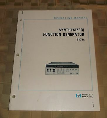 Hewlett Packard HP Operating Manual 3325A Synthesizer Function Generator - 1981