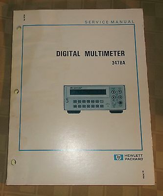 Hewlett Packard HP Service Manual - Digital Multimeter 3478A - 1981