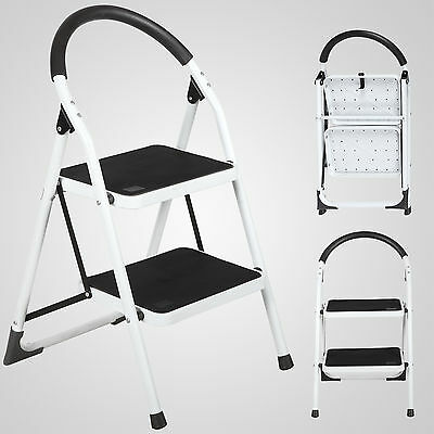 Non-slip 2 Step Ladder Lightweight Folding Step Stool With 330lbs Load Capacity