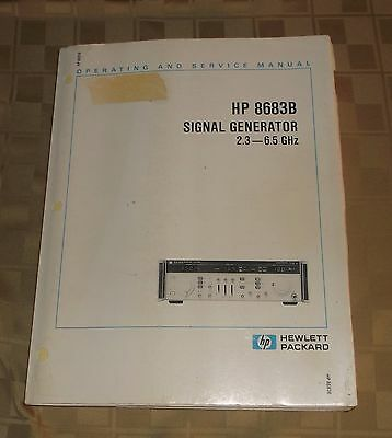 Hewlett Packard HP Operating & Service Manual 8683B Signal Generator 2.3 6.5 GHz