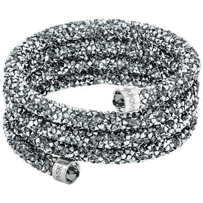 NEW Swarovski Crystaldust Wide Grey Bangle