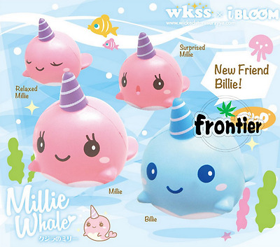 11CM Squishy Mini Whale Millie Scented Squeeze Slow Rising Toy Gift collectible