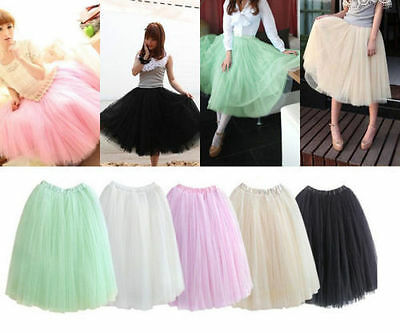 USA USPS! 2017 Princess Fairy Tulle Skirt 5 Layers Free Size Elastic Comfortable