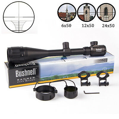 Bushnell Banner Hunting Elite 6-24x50AO Utility Tactical Rifle Scope FREE Mounts