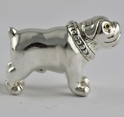Collectable Victorian Style Bulldog Figure Dog 925 Sterling Silver Hallmarked