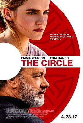 "001 The Circle - Tom Hanks Emma Watson 2017 Thriller Movie 14""x20"" Poster"