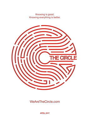 "002 The Circle - Tom Hanks Emma Watson 2017 Thriller Movie 24""x34"" Poster"