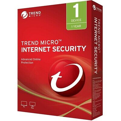 TREND MICRO TITANIUM iNTERNET sECURITY 2019/2020 - 1YEAR 1PC/Mac( Multilanguage)