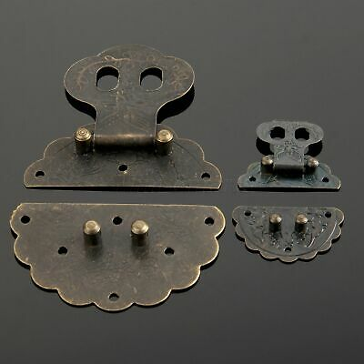 Retro Vintage Box Latch Metal Hasp with Screws Cabinet Wooden Jewelry Box Lock