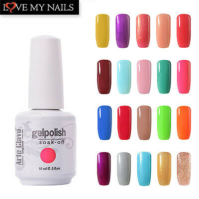15ml Gelpolish Arte Clavo Soak Off UV Color Gel Polish Nail Polish Base Top Coat