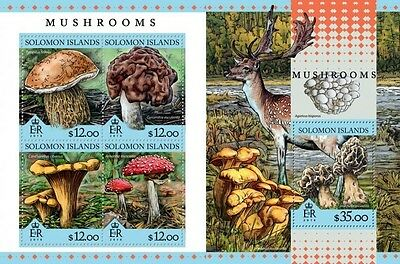 Z08 SLM16312ab Îles Salomon 2016 Mushrooms MNH Jeu