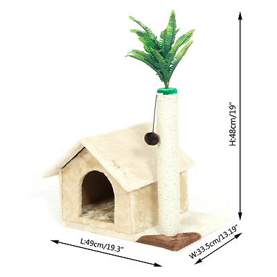 Pet Cat Tree Scratcher Tower Scratching Furniture House Funny Kitten Playing Toy