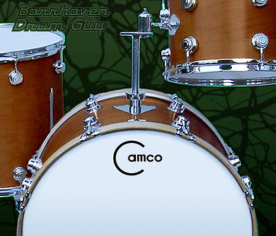 Camco, Vintage, Repro Logo (#3) - Adhesive Vinyl Decal, for Bass Drum Reso Head