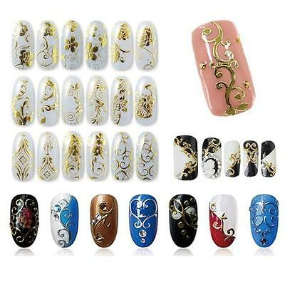108Pcs DIY Decoration Tools 3D Flower Nail Art Stickers Decals Stamping Decor DN