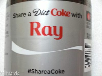 Share a DIET COKE with RAY Collectible 20 oz Bottle RARE Coca-Cola HTF Name