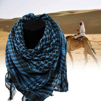Light weight Military Arab Tactical Desert Army Shemagh KeffIyeh Scarf Blue S GE