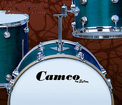 Camco, Vintage, Repro Logo (#5) - Adhesive Vinyl Decal, for Bass Drum Reso Head