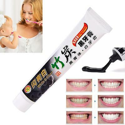 100g Bamboo Charcoal All-Purpose Teeth Whitening Clean Black Toothpaste Care DN