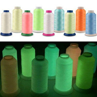 1000 Yards Luminous Glow In The Dark Machine Embroidery Sewing Threads Wholesale