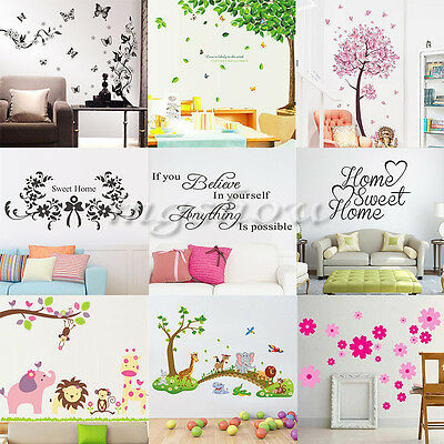 Family Removable Art Vinyl Quote Wall Stickers Decal Mural Home Kids Decor DIY