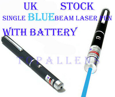 Professional High Powerful Blue Beam Ray Laser Lazer Light Pointer Pen 1Mw Uk