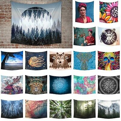 Indian Mandala Tapestry Hippie Bohemian Bedspread Hanging Wall Decor Beach Towel