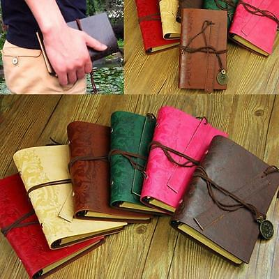 Retro Classic Vintage Leather Bound Blank Pages Journal Diary Notebook Nice BUAU