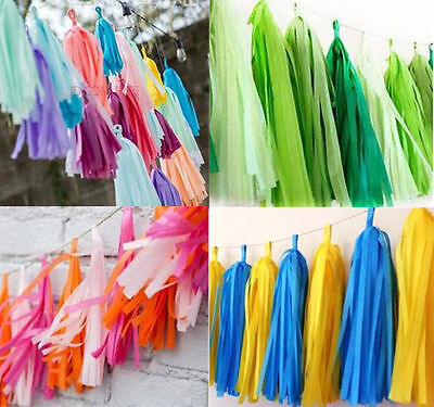 5pcs Tissue Paper Tassels Balloon Bunting Decoration Wedding Party Garland 2016