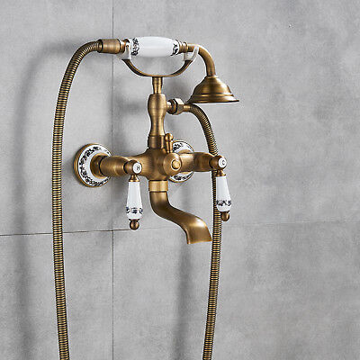 Antique Tub Shower Claw foot Hand shower Antique Brass Shower Faucet Bathtub Tap