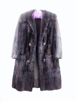 Size 12 ~ Mink Coat ~ Mahogany brown ~ 1960's ~ Beautiful Soft Luxurious Fur ~