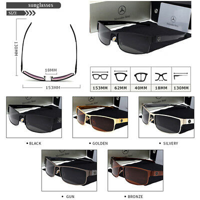 Mercedes brand Polarized sunglasses Driving Men Vintage Men's WITH BRAND BOX!!!