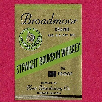 20 Vintage Broadmoor Straight Bourbon Whiskey Labels-Nice