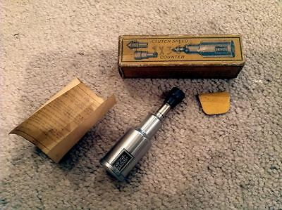 1907 VEEDER SPEED COUNTER TOOL  w/ORIGINAL BOX & PAPERS