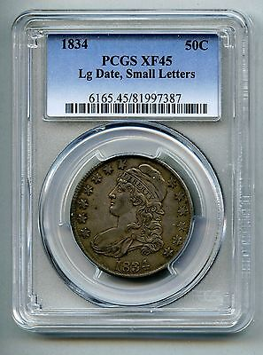 1834 Capped Bust Silver Half Dollar - PCGS XF 45 - Free Shipping in USA!