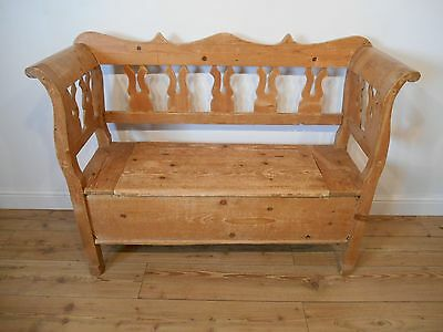 Continental Pine Settle Monks Bench Storage Bench