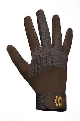 MacWet Micromesh Long Cuff Sports / Riding Gloves - Navy or Brown