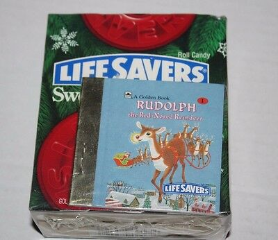 LifeSavers Sweet Storybook W/ Rudolph Red Nosed Reindeer Golden Book NEW Vintage