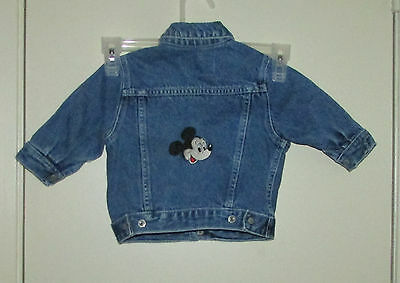 Place Jeans Baby Blue Jean Jacket - Size 6 - 9 months - Mickey Mouse