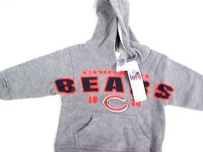Toddler Chicago Bears Gray Fan Gear Primary Pullover Hoodie Size 2T