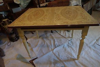 Vintage Enamel Farm Table