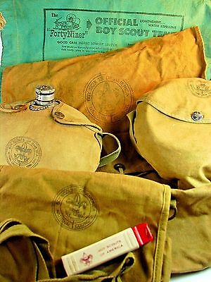 VINTAGE 1950s BOY SCOUT CAMPING GEAR - SIX OFFICIAL ITEMS - Amazing Condition