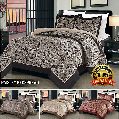 3 Piece New Jacquard Bedspread quilted Bedspread comforter Set quilt +2 pillow