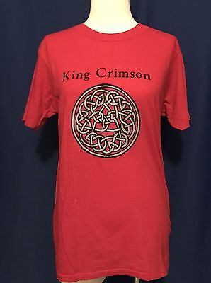 vintage 1981 King Crimson Discipline LP PROMO TSHIRT shirt EG Records MINT LARGE