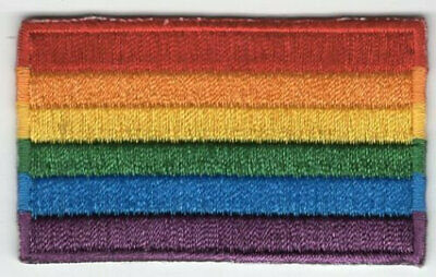 Rainbow Flag Patch LGBT Pride Embroidered Iron On Applique