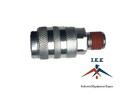 """Industrial 1/4"""" Male NPT Air Compressor Quick Coupler"""