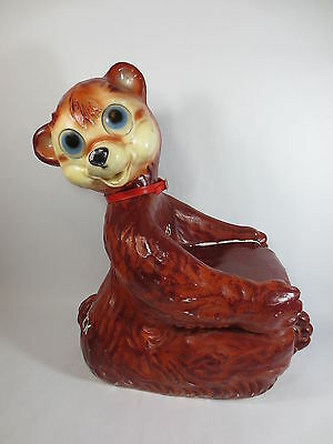 Antique -Bear Rocking Chair Huge Blow Mold Vintage Rubber Blowmold Kid Toy Rare