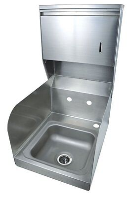 BK Resources BKHS-W-SS-SS-TD Splash (Wall) Mount Space Saver Hand Sink