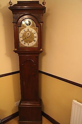 longcase clock 18th century 8 day Father Time by famous maker William Avenell