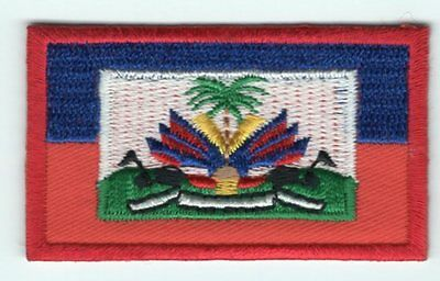 Haiti Flag Patch Embroidered Iron On Applique Haitian